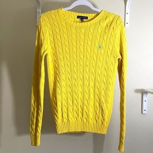 Ralph Lauren Cable Knit Sweater Yellow Size M